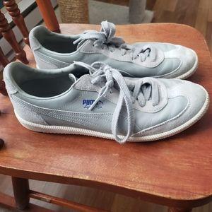 Grey leather PUMA shoes